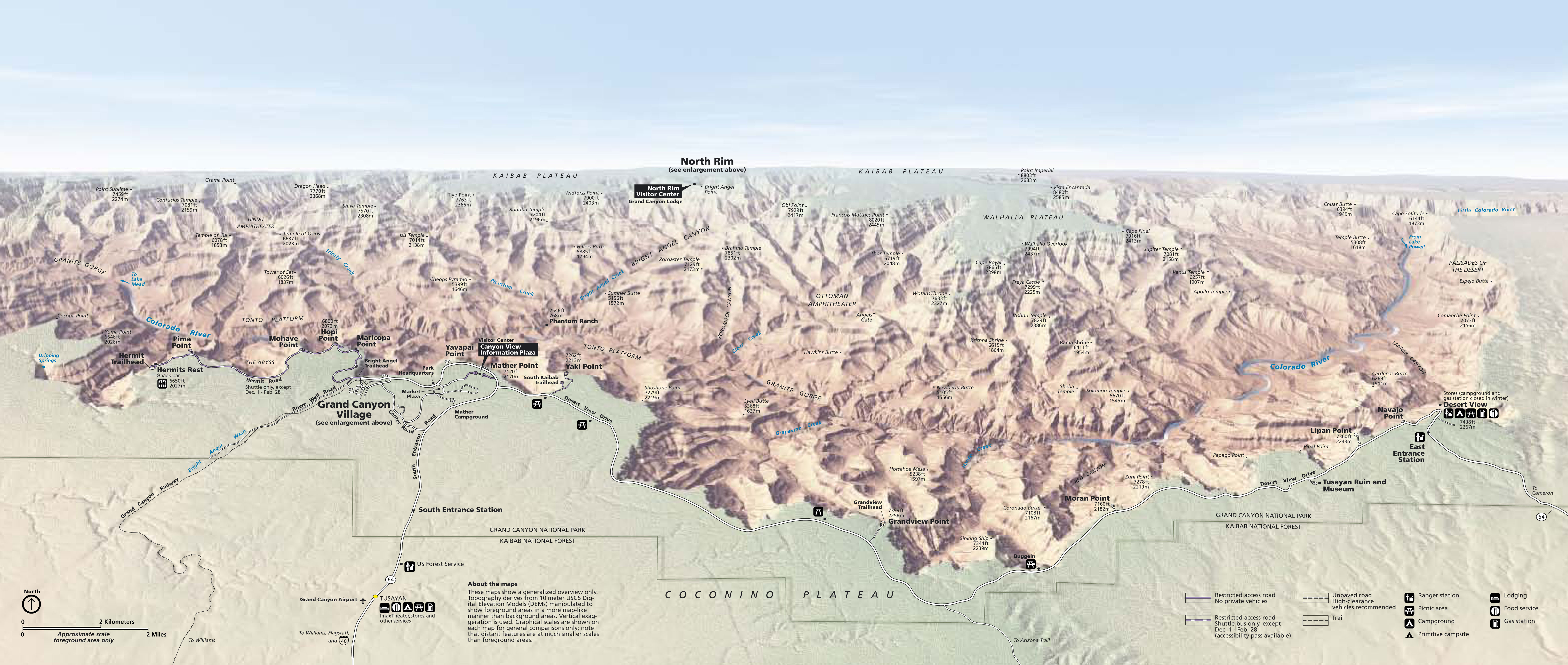 Grand Canyon Map - AllTrips on painted desert map, marble canyon map, kachina village map, biltmore village map, lake george village map, yellowstone canyon village map, beaver creek village map, glen canyon recreation area map, toroweap point map, poinciana village map, canyons located on a map, mazama village map, north coast village map, bright angel point map, cameron village map, curry village map, hempstead village map, grant grove village map, williams az forest road map, havasu canyon map,
