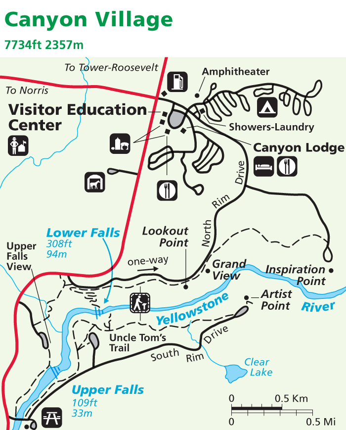 Yellowstone National Park Map: Canyon - AllTrips