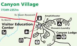 canyon village yellowstone map Yellowstone National Park Map Canyon Alltrips canyon village yellowstone map