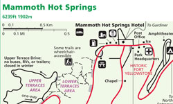 Mammoth Hot Springs Map - AllTrips