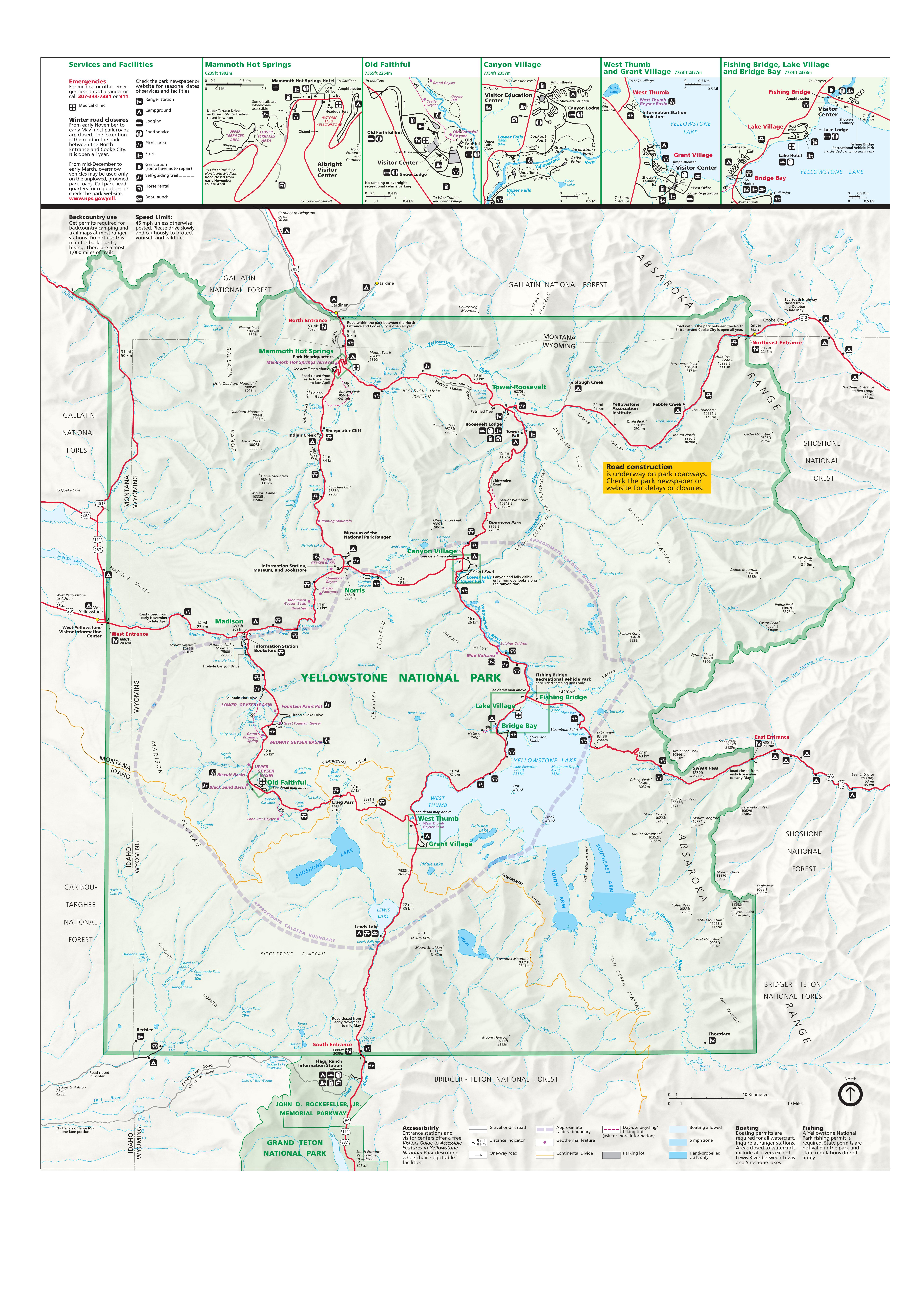 Yellowstone Interactive Map Alltrips
