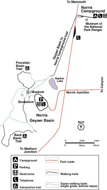 Norris Geyser Basin Map - AllTrips