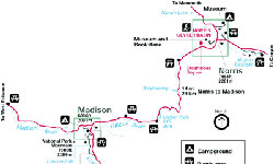 Yellowstone National Park Maps Norris To Madison Alltrips