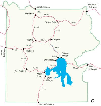 Yellowstone Map Summer Alltrips