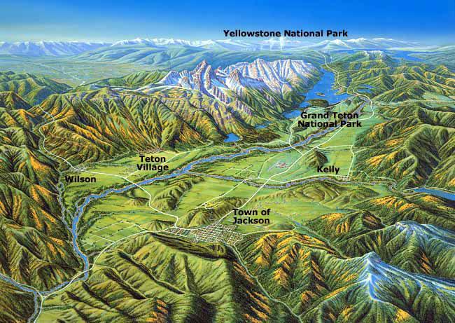 map of jackson wyoming Jackson Hole Wyoming Maps Alltrips map of jackson wyoming