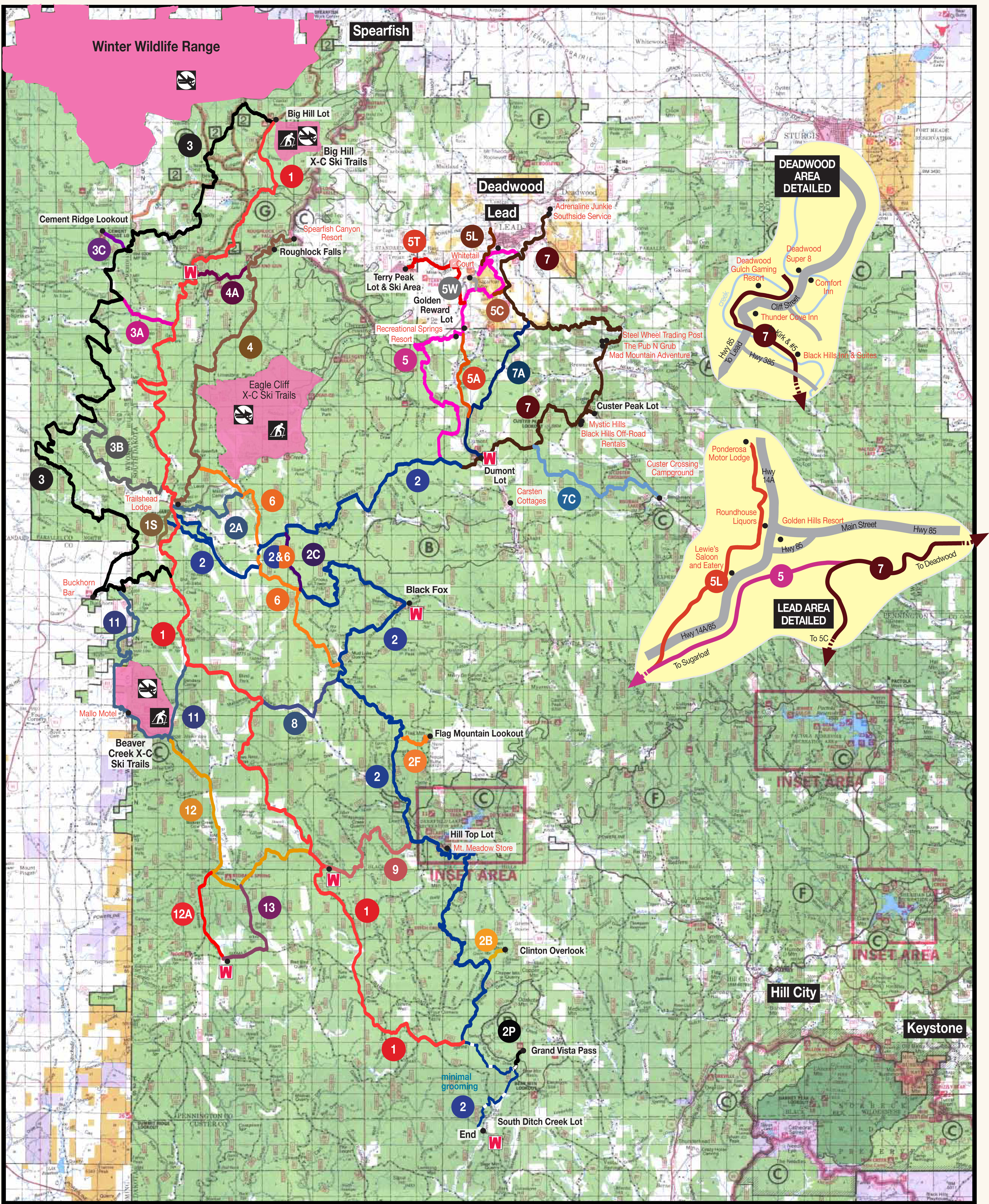 Black Hills Elevation Map.Black Hills Snowmobiling Snowmobile Rentals Tours Alltrips